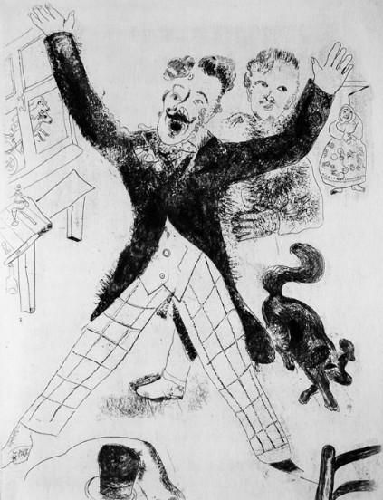 Ноздрев. Офорт Марка Шагала. 1923–1925 годы