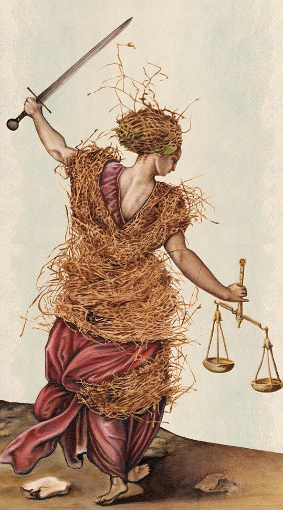 Linnea Gits, Peter Dunham.<i>Justice. Pagan Otherworlds Tarot.</i>
