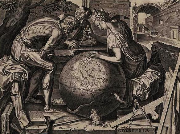 Корнелис Корт — «Геометрия», гравюра.
