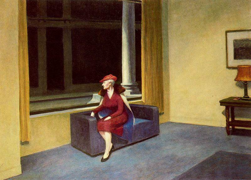 Hotel Window. 1955, ныне в частной коллекции.