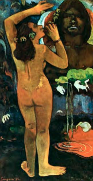 Поль Гоген (1848–1903). Луна и Земля. 1893112 × 61. Собрание Лилли П. Блисс — Музей современного искусства, Нью-Йорк