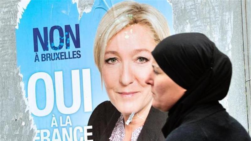 Ультраправый «Национальный фронт» выиграл 24 из 74 мест от Франции в Европейском парламенте. [AFP]