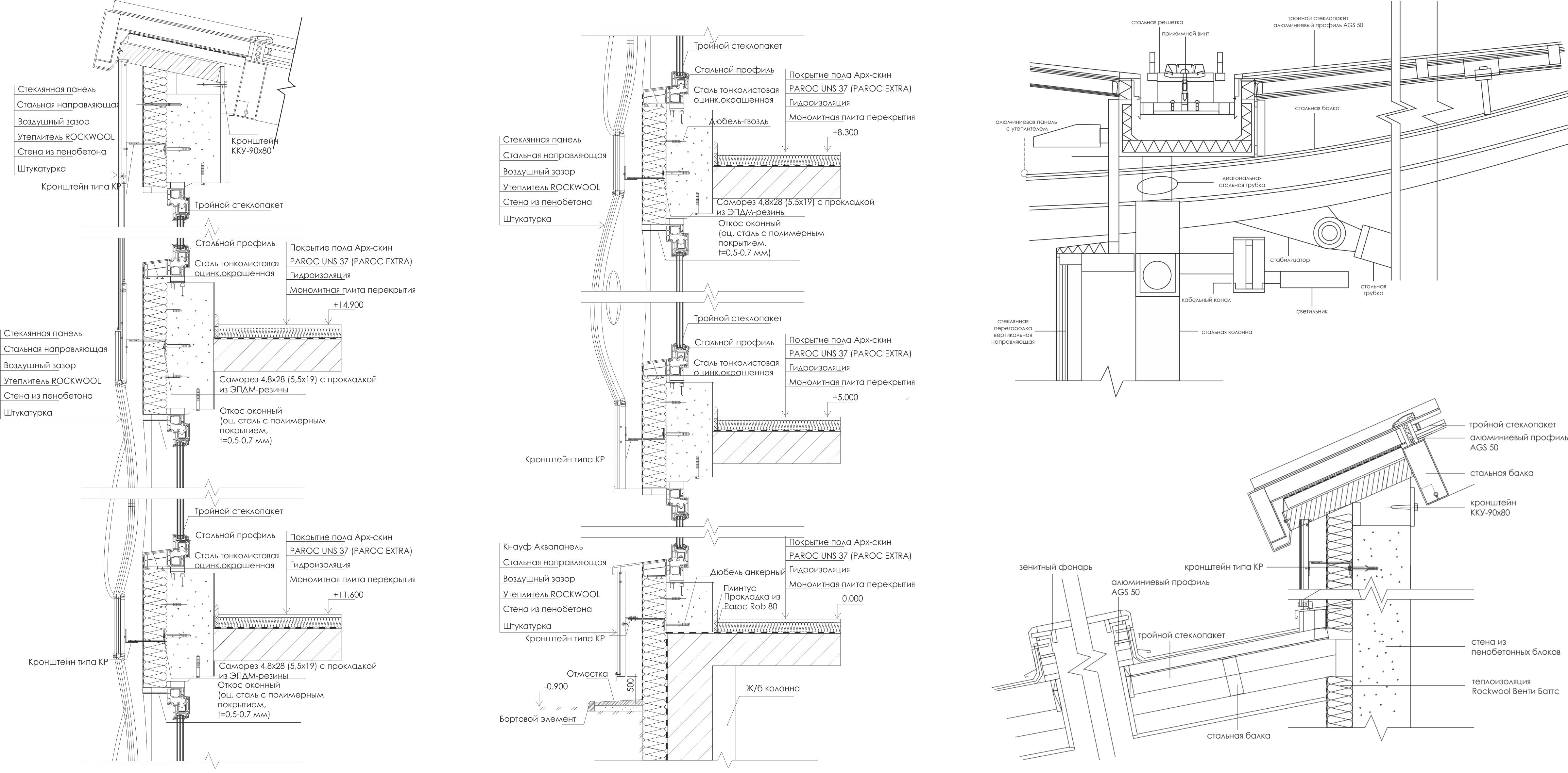 Конструктивные узлы. Гидрологический кластер. Проект автора
