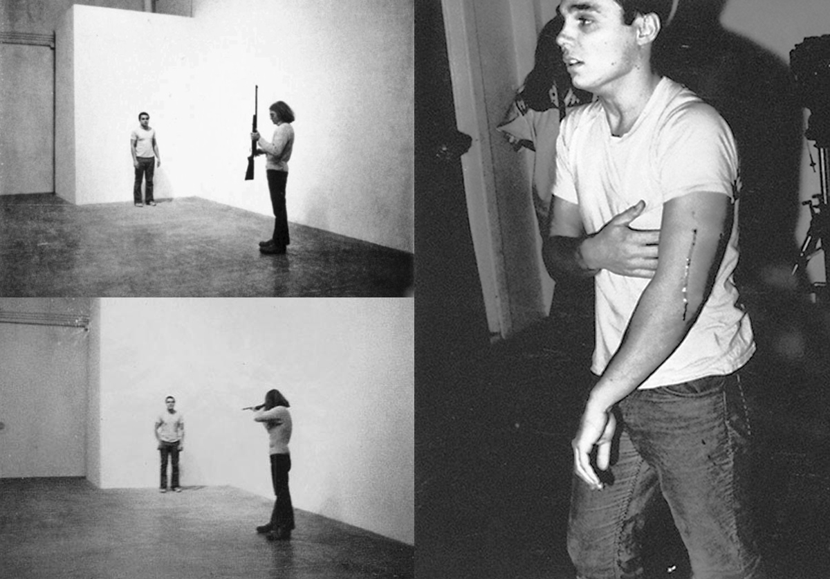 «Выстрел». Крис Бёрден, 1971