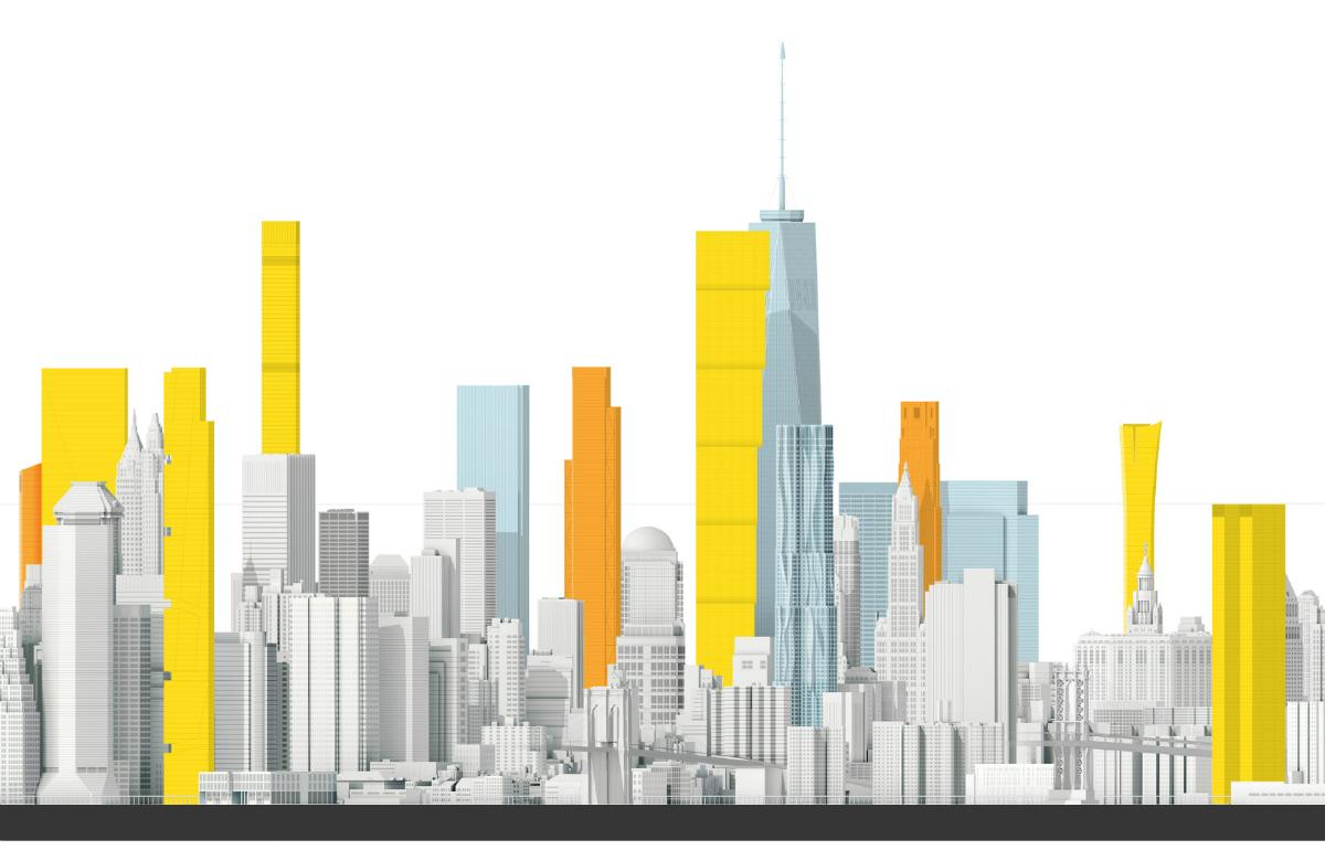 Новые небоскребы Нью-Йорка. Нижний Манхэттен. Источник: Livejournal