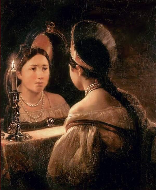 «Гадающая Светлана». Карл Брюллов. 1836
