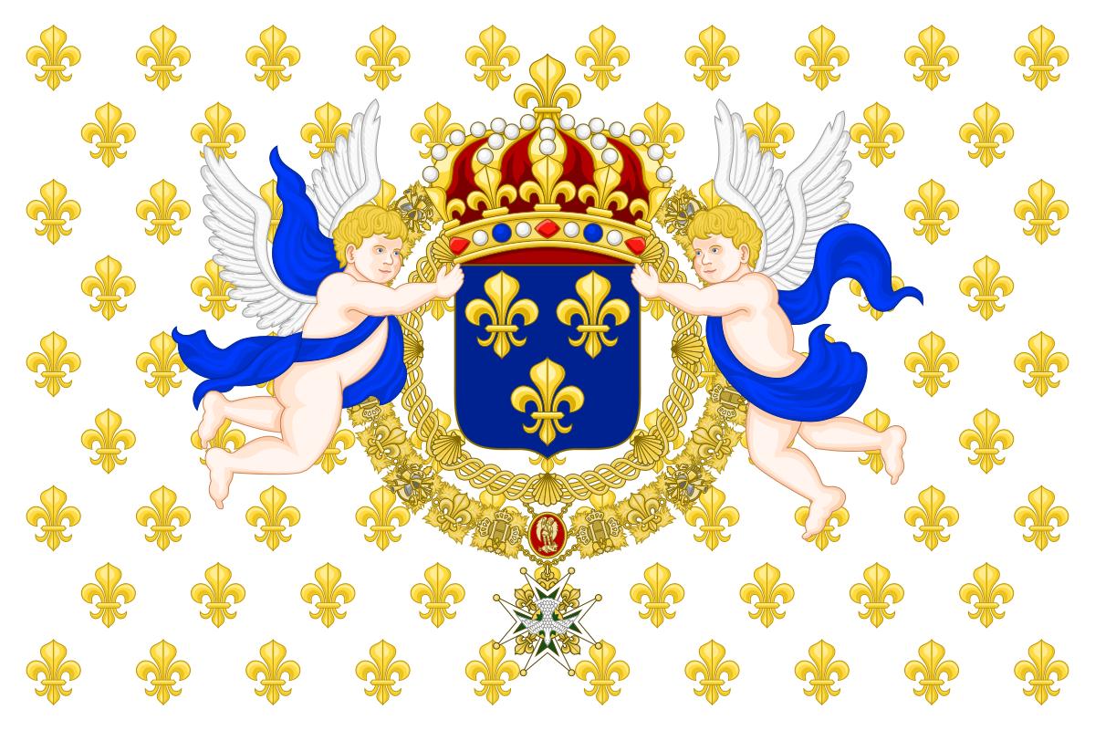 Флаг Франции Бурбонов (использовался с XVII в. по 1790 г.)