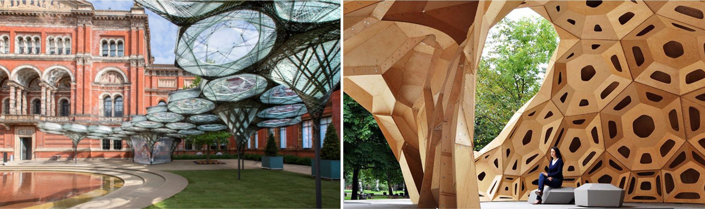 Павильон Elytra Filament, Лондон, Аким Менгес. ICD/ITKE Research Pavilion, Штутгарт