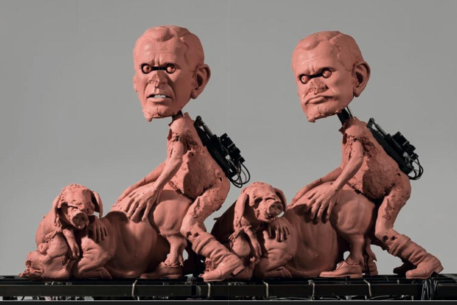 Пол Маккарти. «Процессия, механическая». 2003–2009. Сталь, платиновый силикон, стекловолокно, веревка, электрические и м