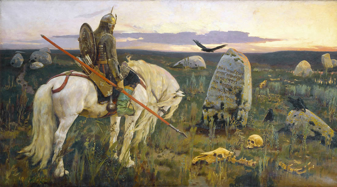 Виктор Васнецов. Витязь на распутье. 1882