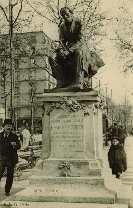 Памятник Фурье на бульваре Клиши, нач. XX века