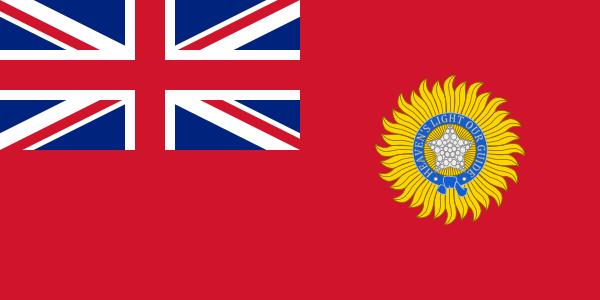 Флаг Британской Индии (использовался с1880 по 1947 гг..)