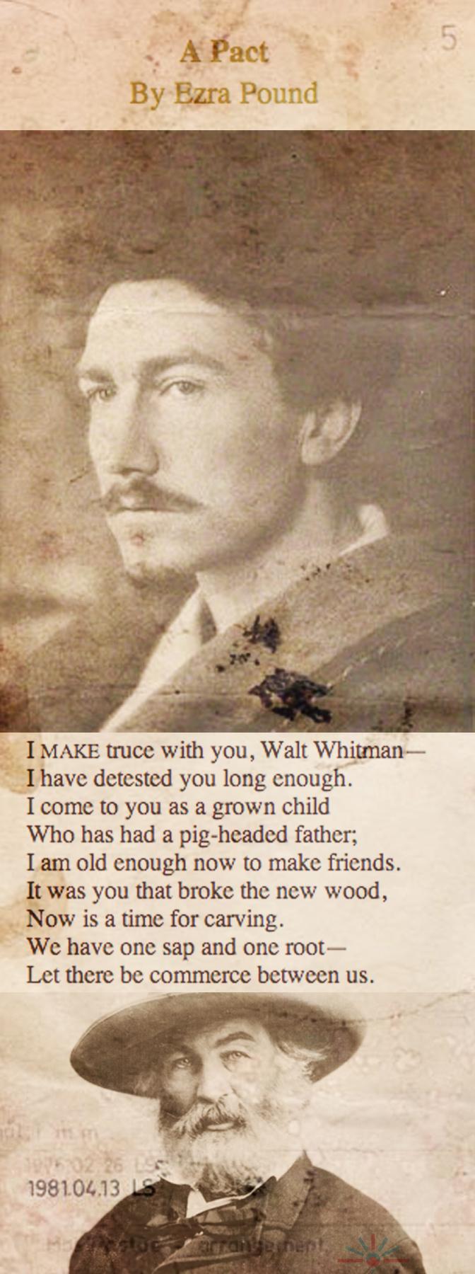 Ezra Pound andWalt Whitman