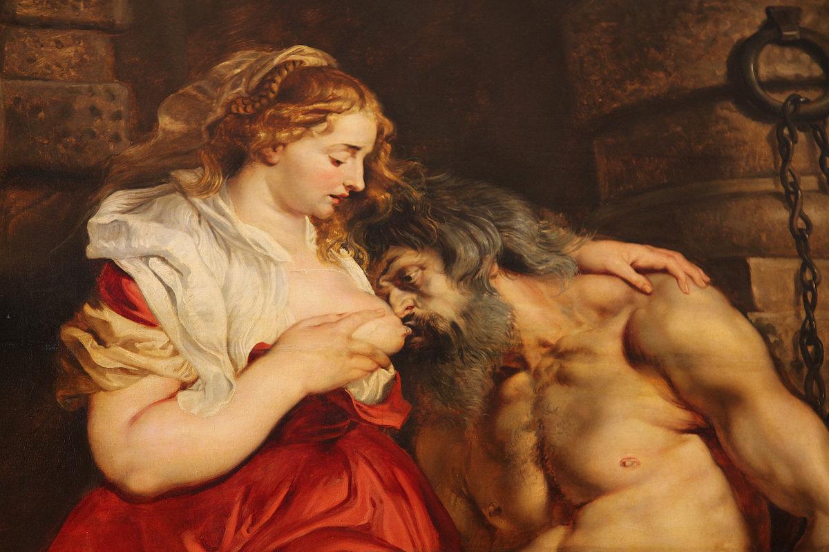 «Отцелюбие римлянки». Питер Пауль Рубенс. 1612