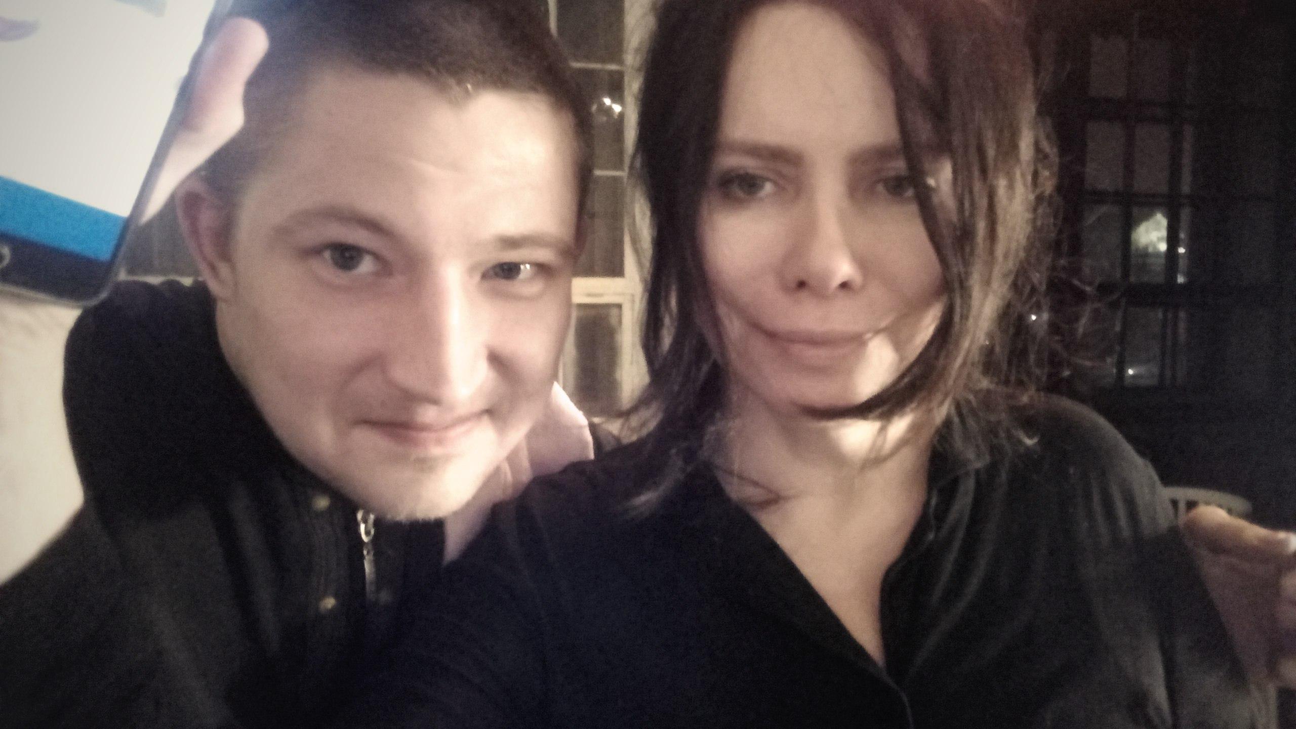 Виктор Лебедев и режиссер Светлана Баскова.