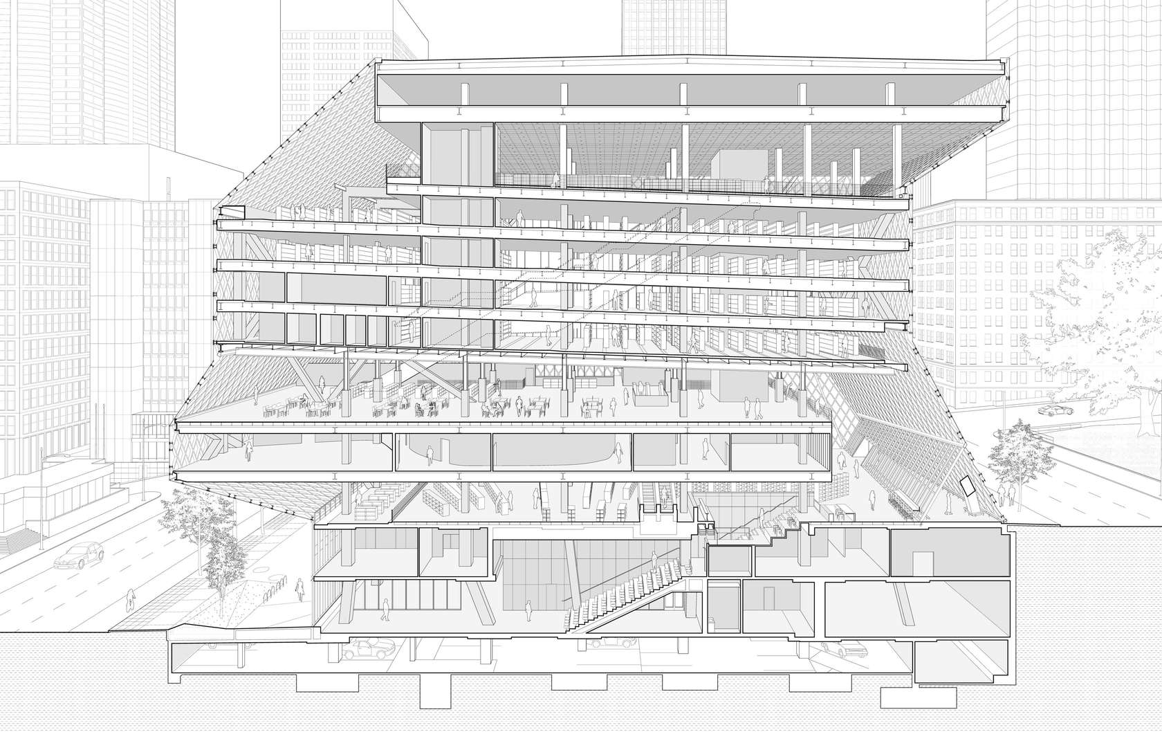 Seattle Central Library. OMA + LMN, USA (2009)
