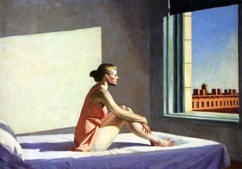 Эдвард Хоппер. Morning Sun. 1952, ныне в коллекции Музея искусств Коламбуса, Огайо.