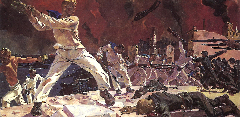 Оборона Севастополя (худ.— А. Дейнека). 1942