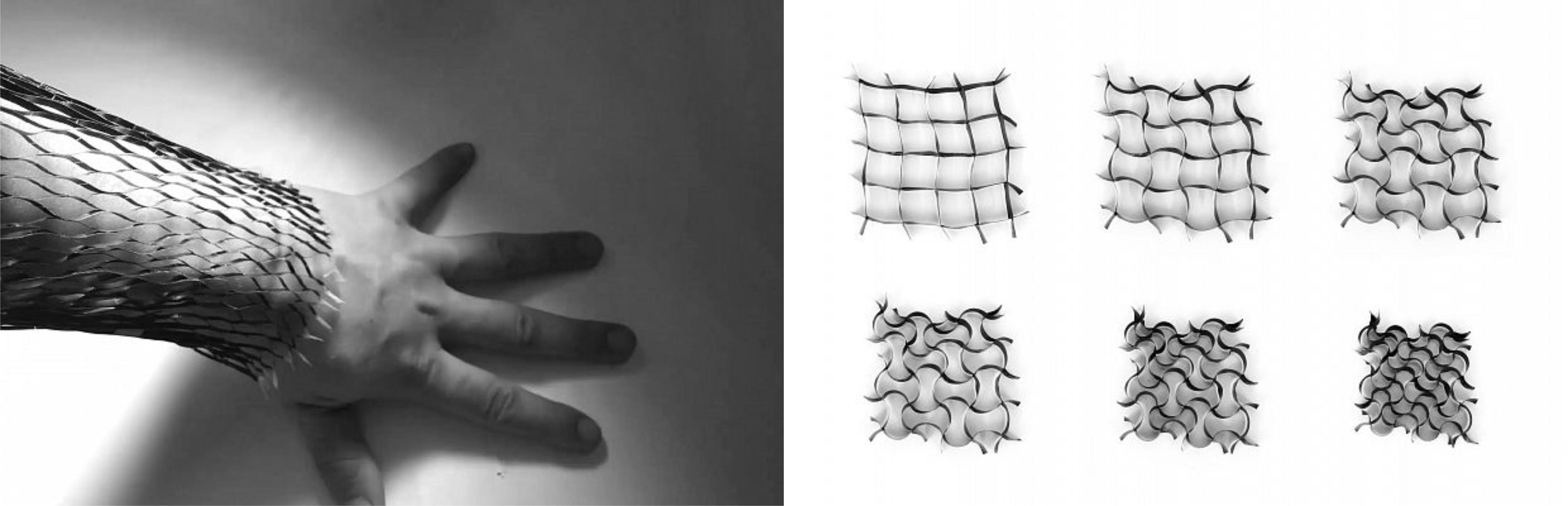Разработки MIT. Материал, который растягивается и сжимается при разной температуре.Источник: Archspeech