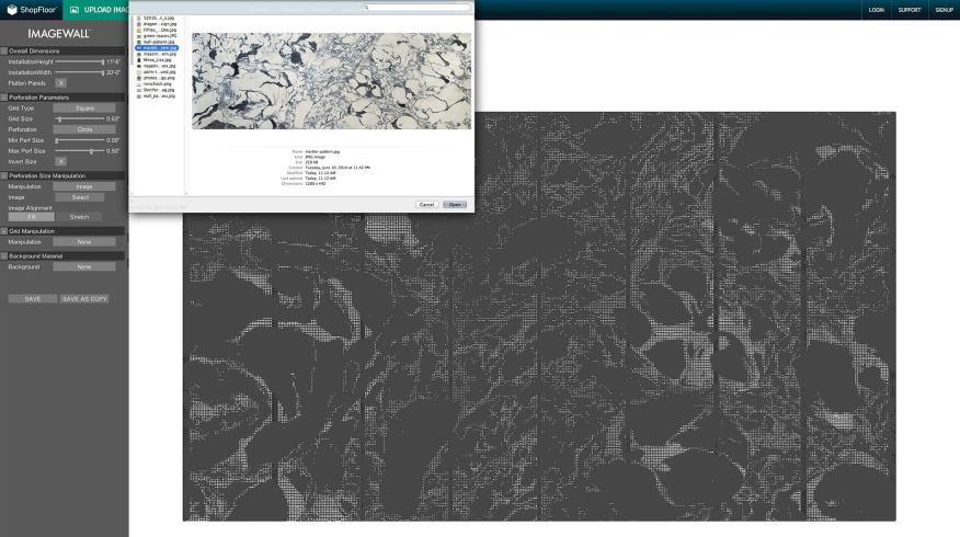 Приложение ImageWall позволяет в пару кликов создать перфорированный рисунок панелей. Источник: Archspeech