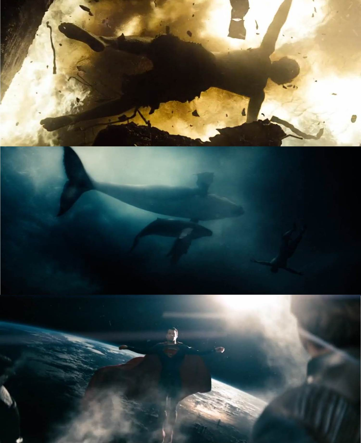Супермен в позе Христа